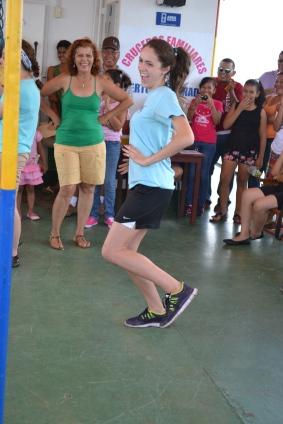 Lauren dancing.
