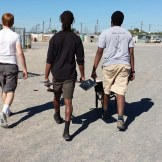 The boys going to collect sand for the community garden in Blikkiesdorp.