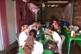 The group eating lunch at Rafaela's house.