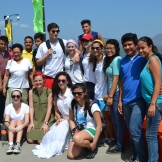 The group at La Catarina (volcanic lagoon).