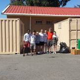 Painting containers at Balvenie Primary School.