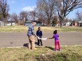 Ben plays with local kids in the Habitat neighborhood.
