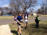 Ella, Max, John, and Ben play with local kids in the Habitat neighborhood.