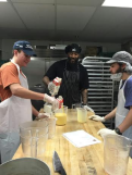 Austin and Skippy, at work in the bakery of DC Central Kitchen