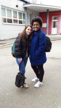 Violet and Shannon are working at Jardin d'enfants Du Florival.